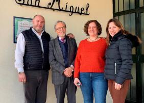 Andrés Samperio, José Macías, Lourdes González-Román e Irene Casado
